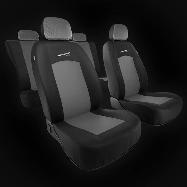 Colore Nero Grigio rmg-distribuzione 4038 Coprisedili per Audi Q3 compatibili con Modelli 2011-in Poi